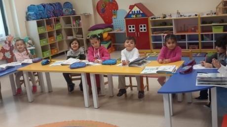 Sancaktepe Okyanus Koleji Okul Öncesi İnciler Grubu Öğrencileri Okuma Yazmaya Hazırlık Etkinliğinde