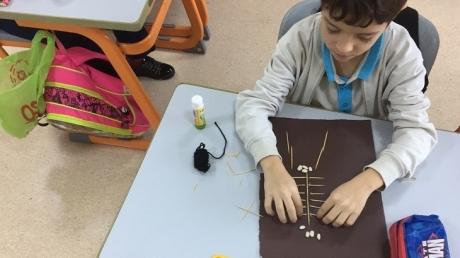 4-E ve 4-F Sınıfı Öğrencileri İskelet Modeli Yaptı