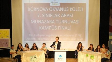 Bornova Okyanus Koleji Ortaokul Kademesinde Münazara Heyecanı