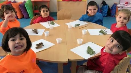 Çekmeköy Okyanus Koleji Okul Öncesi, Çiçekler Grubu Sanat Etkinliğinde
