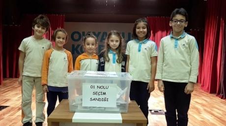 Fatih Okyanus Koleji İlkokul Öğrencileri Başkanını Seçiyor