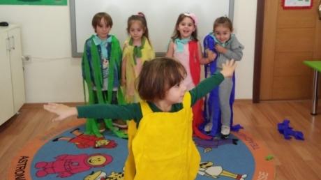 Fatih Okyanus Koleji Okul Öncesi  İnciler Grubu Renk Partisinde