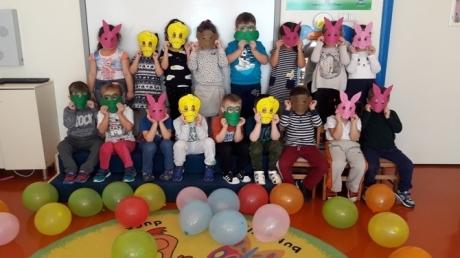 Güneşli Okyanus Koleji Okul Öncesi B grubu Öğrencileri Maske Partisinde