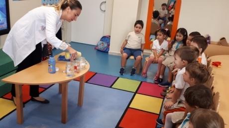 Mavişehir Okyanus Koleji Okul Öncesi İnciler Grubu İz Bırakan Gemiler Deneyi Yapıyorlar