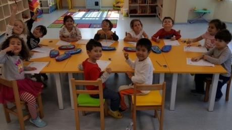 Sancaktepe Okyanus Koleji Okul Öncesi Balıklar Grubu Öğrencileri Okuma Yazmaya Hazırlık Dersinde