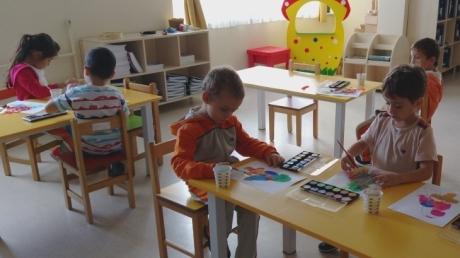 Sancaktepe Okyanus Koleji Okul Öncesi Güneş Grubu Öğrencileri Sanat Etkinliğinde
