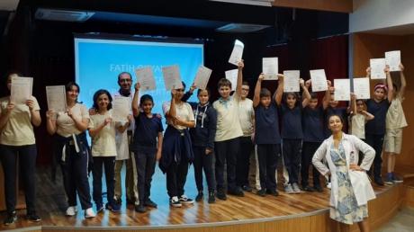 """Fatih Okyanus Koleji'nde """"Ortaokul Öğrencilerine Cambridge Sertifikaları Törenle Takdim Edildi """""""