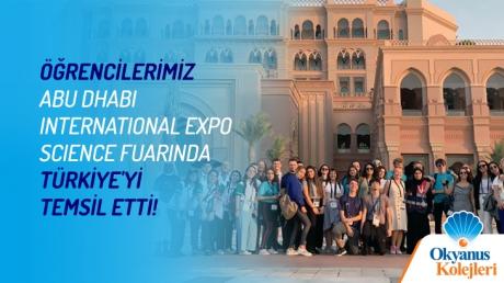 Öğrencilerimiz ABU DHABI International Expo  Science Fuarında Türkiye'yi Temsil Ediyor