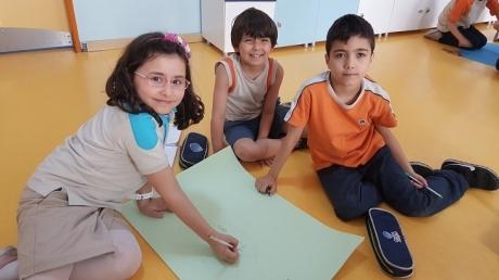 Bahçeşehir Okyanus Koleji Üstün Zekâlılar ve Yetenekliler İlkokulu 2-E Sınıfı 'Zihin Haritası' Etkinliğinde.