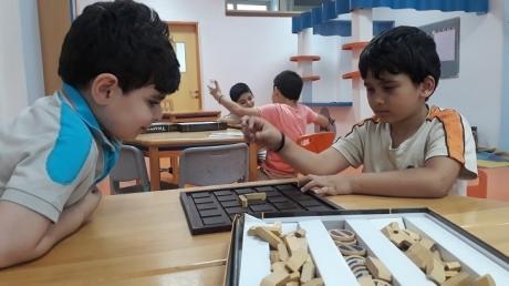 Bahçeşehir Okyanus Koleji Üstün Zekalılar ve Yetenekliler İlkokulu 1-D Sınıfı Öğrencileri Zeka ve Akıl Oyunları Dersinde.