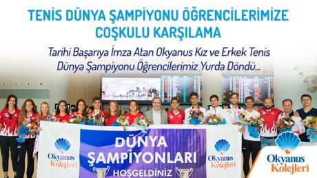 Dünya Tenis Şampiyonu Kız ve Erkek Takımımız Türkiye'ye Döndü