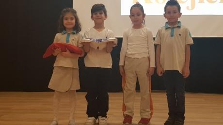 Eryaman Okyanus Koleji Okul Öncesi Kademesi A Grupları Bayrak Teslim Töreni ve İlkokula Hazırlık Programı Katılım Belgelerini Alma Programında