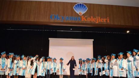 """İncek Okyanus Kolejinde """"Ortaokula Veda Liseye Merhaba"""" Töreni"""
