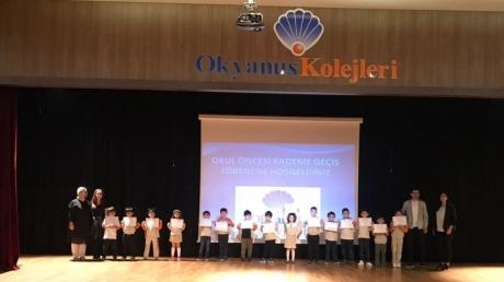 İncek Okyanus Okul Öncesi Kademesi A Grubu Öğrencileri Kademe Geçiş Töreni Yapmanın Gururunu Yaşadı .