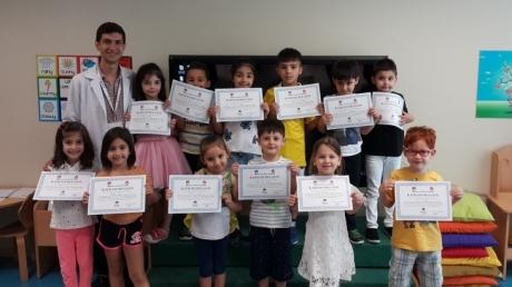 Mavişehir Okyanus Koleji Okul Öncesi Öğrencileri İlkokula Hazırlık Programını Başarıyla Tamamladılar