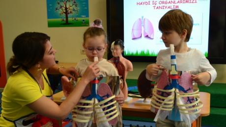 Mavişehir Okyanus Koleji Okul Öncesi Öğrencileri Organları Tanıyalım Konulu Eğitimde