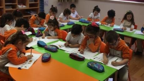 Okul Öncesi Bulutlar Grubu Okuma Yazmaya Hazırlık Dersinde
