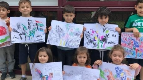 Okul Öncesi Deniz Yıldızları Sınıfı Öğrencileri Sanat Etkinliğinde