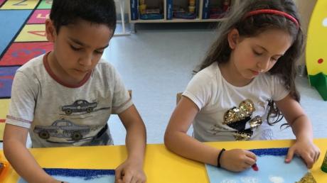 Sancaktepe Okyanus Koleji Okul Öncesi Yıldızlar Grubu Öğrencileri Sanat Etkinliğinde