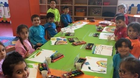 Yıldızlar Grubu Öğrencileri Sanat Etkinliğinde