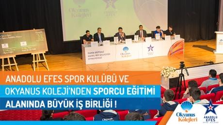 Anadolu Efes Spor Kulübü ve Okyanus Koleji'nden Sporcu Eğitimi Alanında Önemli İş Birliği