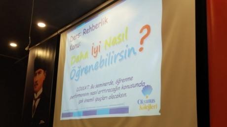 Bayrampaşa Okyanus Anadolu ve Fen Lisesinde Öğrenme Stilleri Semineri yapıldı