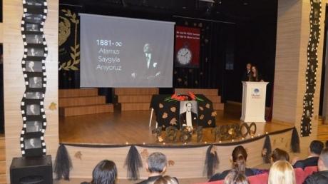 Beykent Okyanus Kolejinde Düzenlenen 10 Kasım Töreni