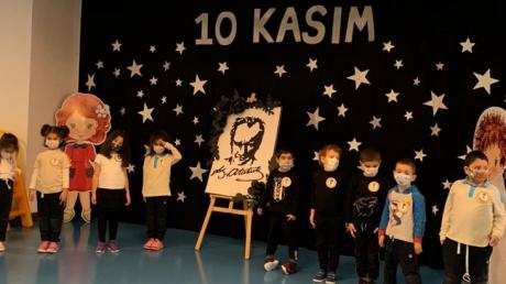 İncek Okyanus Anaokulu Öğrencileri Atatürk'ü Anma Törenini Gerçekleştirdi