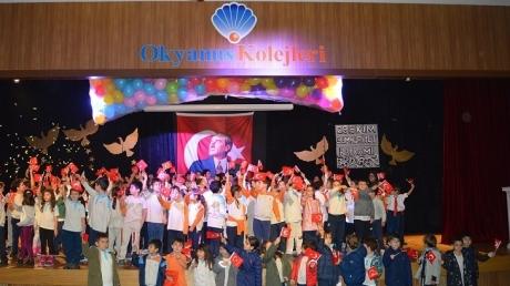İncek Okyanus Kolejinde 29 Ekim Cumhuriyet Bayramı Coşkusu