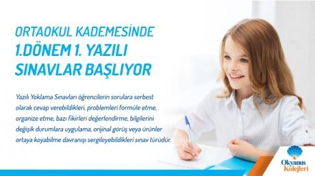 Ortaokul Kademesinde 1.Dönem 1. Yazılı Sınavlar Başlıyor!!!