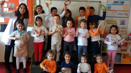 Ataşehir Okul Öncesi Yıldızlar Grubu  Müzik Etkinliğinde
