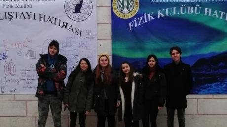 Avcılar Okyanus Koleji Fen Bilimleri Kulübü İstanbul Üniversitesi 9. Fizik Çalıştayı' nda