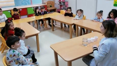 Beylikdüzü Okul Öncesi Çiçekler Sınıfı Fen ve Doğa etkinliğinde