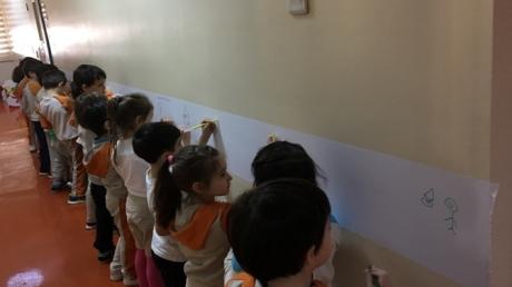 Güneşli Okyanus Koleji Okul Öncesi Gezegenler Grubu Sanat Etkinliğinde