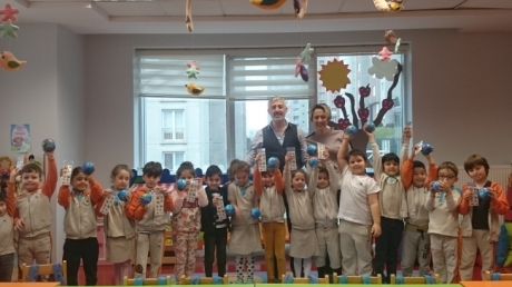 Halkalı Okul Öncesi Yıldızlar Grubu Öğrencileri Aile Katılım Etkinliğinde.