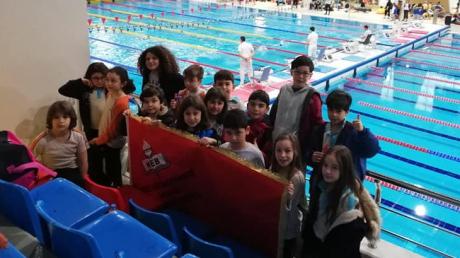 Halkalı Okyanus Koleji Yüzme Altyapı Takımı İstanbul İli Avrupa yakası Yüzme Müsabakasında...