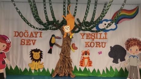 İncek Okyanus Anaokulu Öğrencileri Orman Haftası Etkinliğinde