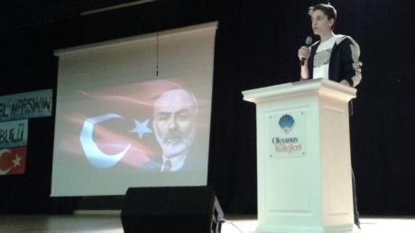 12 Mart İstiklal Marşı'nın Kabulü Etkinliği