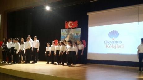 İncek Okyanus Koleji'nde 18 Mart Çanakkale Zaferi töreni yapıldı.