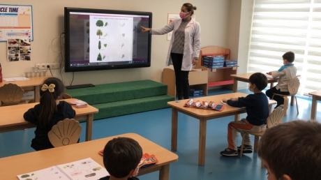 Mavişehir Okyanus Koleji Okul öncesi öğrenciler Orman Haftası etkinlikleri