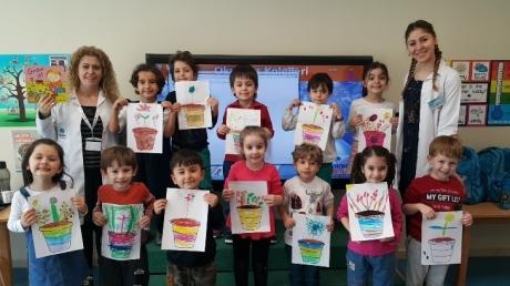 Mavişehir Okyanus Koleji Okul Öncesi Yunuslar Grubu İngilizce Dersinde
