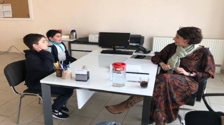 Mimarsinan Okyanus Koleji ortaokul öğrencilerine speaking  exam (konuşma sınavı) yapıldı.