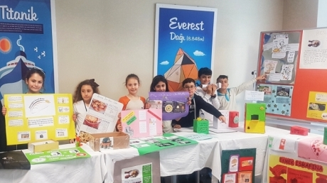 Okyanus Koleji Mavişehir Şubesi Fen Bilimleri Besin İsrafı Proje Sergisi