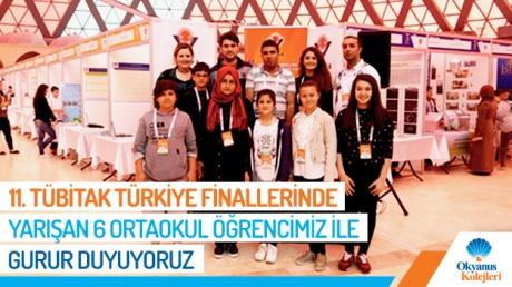 11. Tübitak Türkiye Finallerinde Yarışan 6 Ortaokul Öğrencimiz İle Gurur Duyuyoruz