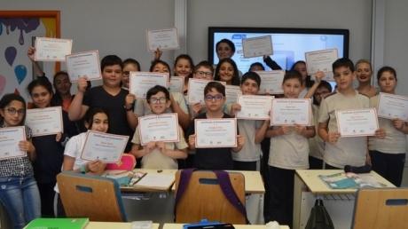 """""""Beykent Okyanus Koleji Ortaokul Kademesinde 'Speaking Exam' Sertifikaları Dağıtıldı."""