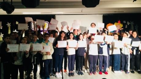Ortaokul 5. Sınıflar İngilizce Konuşma Sınavı Sertifika Ödül Töreninde Buluştu