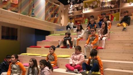 Beylikdüzü Okul Öncesi A Grubu Öğrencileri Adile Naşit Çocuk Kütüphane Gezisinde