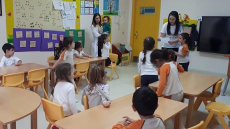 Beylikdüzü Okul öncesi  Çiçekler Grubu öğrencileri Aile Katılım etkinliğinde