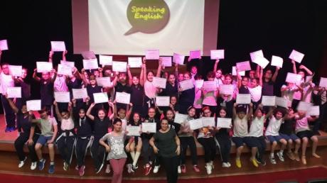 Beylikdüzü Okyanus Ortaokulu 5.Sınıf Öğrencileri ''SPEAKING EXAM'' Sertifikalarını Aldılar