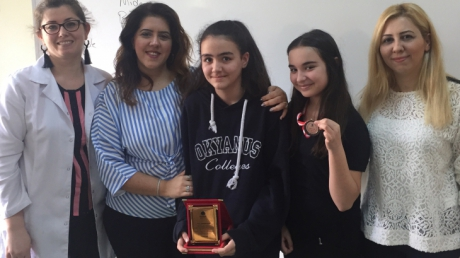 Beylikdüzü Okyanus Ortaokulu Mart ve Nisan Ayı Örnek Öğrenci Madalyaları Verildi